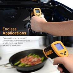 Etekcity Lasergrip 774 (Not for Human) Non-Contact Digital Laser Infrared Thermometer Temperature ~ Standard Size, Yellow & Black Cool Gifts For Kids, Perfect Gift For Dad, Gifts For Dad, Magnetic Dart Board, Must Have Gadgets, Gadgets For Dad, Popular Birthdays, Infrared Thermometer, Digital Thermometer