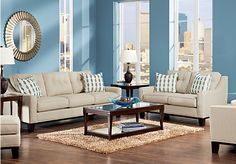 Shop for a Cindy Crawford Hadly Beige 7Pc Classic Living Room at Rooms To Go. Find Living Room Sets that will look great in your home and complement the rest of your furniture.