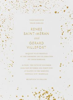 1000 Images About Gold Wedding Invitations And Save The Dates On Pinterest