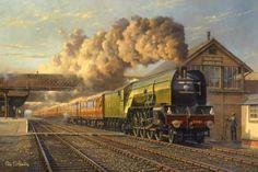 Fine art railways prints by the celebrated British artist Philip D Hawkins Steam Art, Foto Top, Abandoned Train, Steam Railway, Train Art, Railway Posters, Engin, Train Pictures, Steam Locomotive
