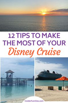 A Disney Cruise is a bucket list item for many. It is expensive but well worth it, Even though we researched our Disney Cruise well in advance there were a few other things I wish we had known. Here are our 12 tips to make the most of your Disney Cruise. Cruise Travel, Florida Travel, Cruise Vacation, Disney Vacations, Disney Trips, Beach Vacations, Disney Travel, Cruise Destinations, Family Vacation Destinations