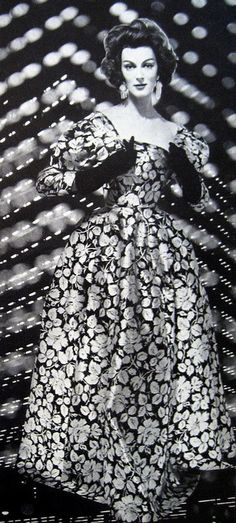 Carmen Dell'Orefice photographed by Richard Avedon for Harper's Bazaar, March 1959.