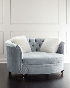 Haute House Harper Tufted Cuddle Chair is part of Living furniture - Shop Harper Tufted Cuddle Chair from Haute House at Horchow, where you'll find new lower shipping on hundreds of home furnishings and gifts Living Room Furniture, Home Furniture, Furniture Design, Modern Furniture, Rustic Furniture, Antique Furniture, Furniture Chairs, Furniture Outlet, Handmade Furniture