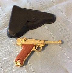 Vintage Marx Golden Miniature Luger Cap Gun with Holster BYF 53 | eBay