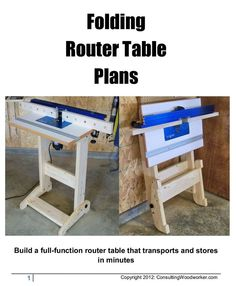 Ralph Bagnall - Folding Router Table http://sawtoothideas.com/store/product/70#