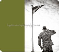 senior portrait guy ROTC salute flag plant city