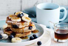 Flourless banana & blueberry pancakes