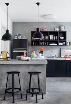 modelo de pendente para cozinha preto