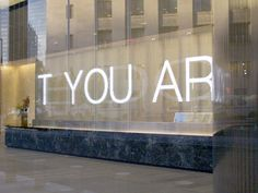 Jenny Holzer at 7 World Trade Center. Short Bio of Jenny Holzer 7 World Trade Center, Office Building Lobby, Jenny Holzer, Autumn Art, Conceptual Art, Famous Artists, American Artists, Zine, Signage