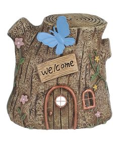 Another great find on #zulily! Tree Fairy House #zulilyfinds