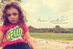 retro 3 year old girl ©American Sweetheart Photography 2012