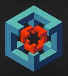 Figura imposible. 1972 Serigrafía. 80,5 x 60cm.