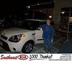 Happy Anniversary to Nora Porter on your 2012 #Kia #Soul from Kevin Cole and everyone at Southwest Kia Mesquite! #Anniversary