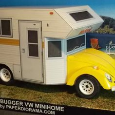 VW Minihome Paper Model - Paperdiorama - Donwload Free Paper Model