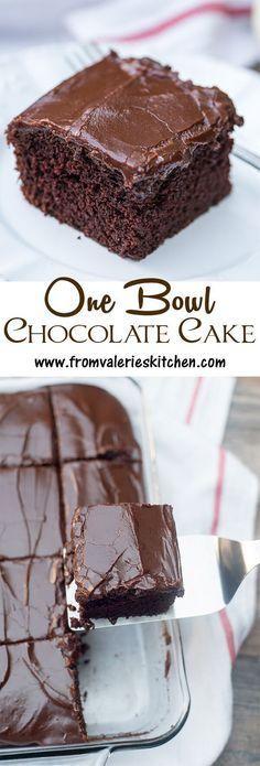 986f58b784a One Bowl Chocolate Cake Recipe - (fromvalerieskitchen)
