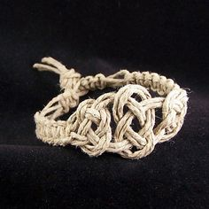 Hemp No Bead Josephine Knot Bracelet. $6.00, via Etsy.