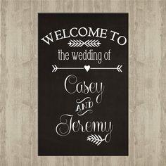 Signe de bienvenue - tableau de mariage