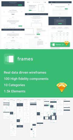 Frames - Wireframe UI Kit. UI Elements