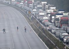 Massive tailbacks formed as police closed the M5 over what they described as…