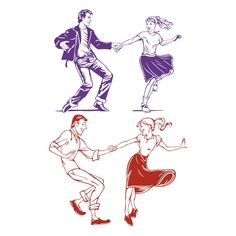 Dancing Couple SVG Cuttable Design
