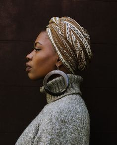 Put your headwrap on. Lift your chin up, young girl. #fanmdjanm #headwraps #fanmdjanmheadwraps #headwrap #handmadeinharlem • cc @findingpao