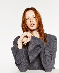 ZARA - WOMAN - SWEATER WITH TIE DETAIL ON SLEEVE