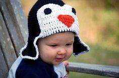 Crochet Penguin Hat 4TPreteen by CUTEureCreations on Etsy, $26.00