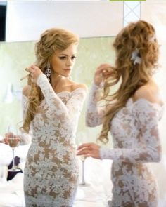 New Cheap Long Sleeve Off Shoulder Sheath Short Lace Cocktail Dress Party Gown Custom Made Size 4 6 8 10 12 14 16 18++ C16