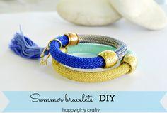 happy girly crafty: gorgeous easy #bracelet #DIY Easiest summer bracelets ever!