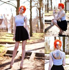 No title #1 (by La Volpe) http://lookbook.nu/look/3338875-no-title-1    Cool hair colour, isn't it?