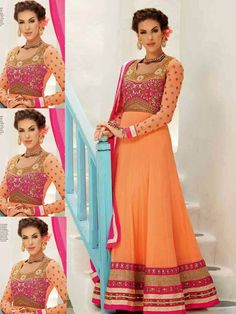 """Paris Presents """"Deepawali Special Collection  """" Product Check Out Different on Website www.parisworld.in Online Shopping Indian Women Ethnic Wear Email Id- Contact@parisworld.in  Customer Care No- +91 8866982359http://www.parisworld.in/product_detail.php?product_id=2932&name=Orange+Georgette+Marvellous++Designer+Salwar+Kameez+"""
