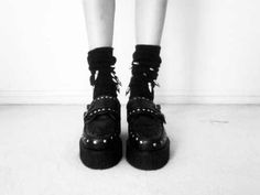 #fashion#SheInside#grunge#creepers#black#blackandwhite
