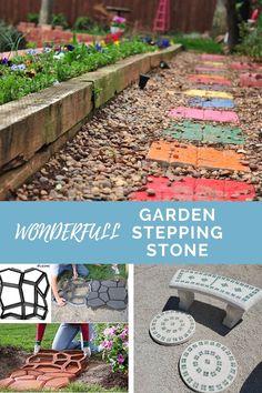 Making of Personalized DIY Stepping Stones  #diygardenstones Garden Steps, Easy Garden, Garden Stepping Stones, Stone Path, Amazing Gardens, Backyard, The Incredibles, Building, Outdoor Decor