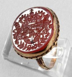 A signet ring, which belonged to Queen Christina of Sweden (1626-1689), ca 1650.