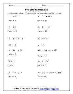 Printables 7th Grade Math Review Worksheets these fun worksheets will have your kids finding equivalent math for grade 8 7th standard met working with expressions