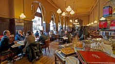 My favourite coffee house in Vienna is the Café Sperl. It is freighted with history. It was at the Sperl where the painter Gustav Klimt declared the Viennese Secession in 1897, thus launching Vienna's own modern art movement.  Today, the Sperl remains blessedly renovation-free. No track lighting. No wi-fi. No unctuous baristas. Only simple wooden booths and grumpy waiters
