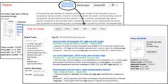 Nova ferramenta do google: The Prior Art Finder identifies key phrases from the text of the patent, combines them into a search query, and displays relevant results from Google Patents, Google Scholar, Google Books, and the rest of the web.