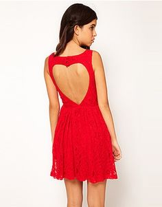 ASOS Fashion Finder | Rare Lace Skater Dress With Heart Cut Out Back