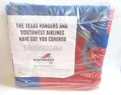 Texas Rangers Southwest Airlines Stadium Blanket Throw Promo New in package #TexasRangers