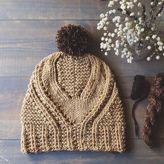 Fidra hat complete and ready to send off. I wanted a contrasting pom pom, so I used some leftover Brooklyn Tweed Shelter and mixed it with some @oldhomesteadalpacas from their pretty Kami & Sofia blend.  It turned out perfectly. . . Pattern: Fidra Hat by @gudrunjohnston  Yarn: @quinceandco Osprey in color Camel . #handmadewithlove #knitting #quinceandcoosprey #quinceandco #fidrahat #knittersofinstagram #knitstagram #knitting_inspiration #knittersoftheworld