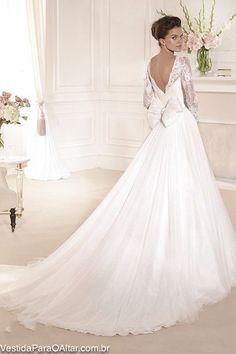 Vestido de Noiva Romance Branco