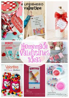 20 Homemade Valentine's Ideas-Linky Party Features Posted by Abby.This week we've rounded up 20 handmade Valentine's ideas for all occasions and people in your life! My Funny Valentine, Homemade Valentines, Valentine Day Love, Valentine Day Crafts, Valentine Ideas, Printable Valentine, Valentine Wreath, Valentine Bingo, Happy Hearts Day