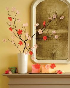 Blooming for just a few brief weeks in spring, cherry blossoms are famously ephemeral. Unless, that is, you craft artful renditions of them from glassine or vellum, in which case they