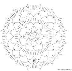 Tığ.  Hava masa örtüsü, perde ve yastık (8) (632x623, 167KB)