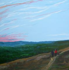 Evening Walk, Original art by Robert Harris