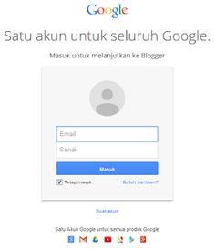 Login Blogspot menggunakan Akun Gmail