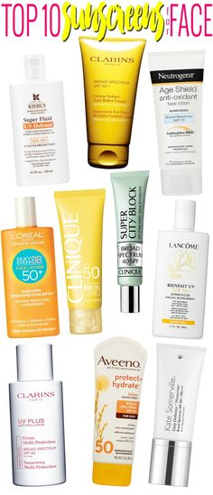 Summer Skin Care Guide: Top 10 sunscreens for face.