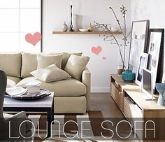 Fabulously Vintage: Crate and Barrel Lounge Sofa -- Extra Deep & Super Comfy!