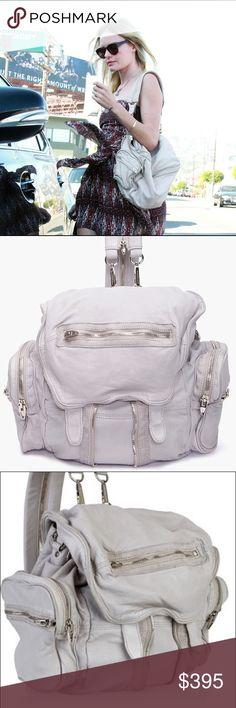 Alexander wang marti backpack Alexander wang marti backpack. Can be worn 3 different way. Super soft and slouchy.  Alexander Wang Bags Backpacks
