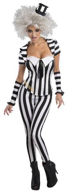 Womens Beetlejuice Costume |  #Halloween #Costumes #coupons #CostumeCraze